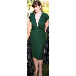 C&T Costello Tagliatelle Emerald Wrap Dressx
